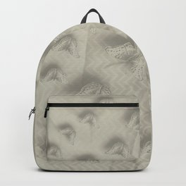 Butterfly swarm on textured chevron pattern Backpack