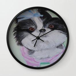 Chloe, painting by Karen Chapman Wall Clock