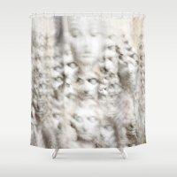 sleep Shower Curtains featuring Sleep by GLR67