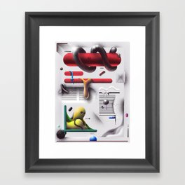 Weekend Abstract Magazine Framed Art Print