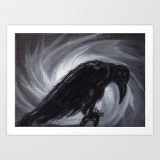 Dream the crow black dream. Art Print