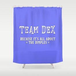 Team Dex Shower Curtain