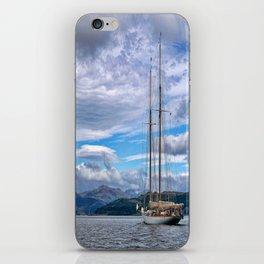 Schooner on the River Clyde iPhone Skin
