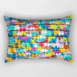 Rainbow Puzzle Rectangular Pillow