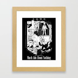 Much Ado About Nothing - Joss Whedon Poster #2 Framed Art Print