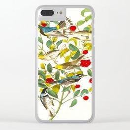 Vintage Scientific Bird & Botanical Illustration Clear iPhone Case