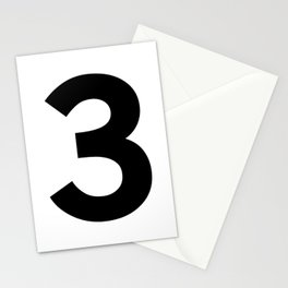 Number 3 (Black & White) Stationery Cards