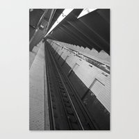 subway Canvas Prints featuring Subway by Laura Gomez