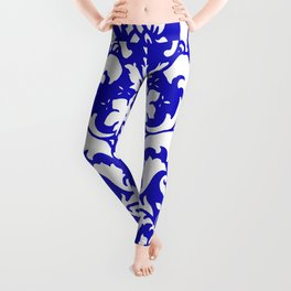 PAISLEY DAMASK BLUE AND WHITE 2019 PATTERN Leggings