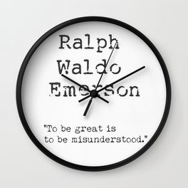 Ralph Waldo Emerson awesome quote 11 Wall Clock