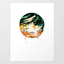 Moonbase Melonhead Art Print