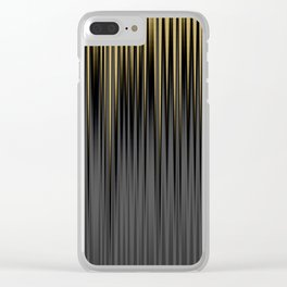 Modern Yellow and Black Jagged Ribbed Stripe Pattern Clear iPhone Case