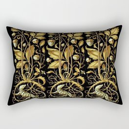 Anton Seder Lizards And Flowers Rectangular Pillow