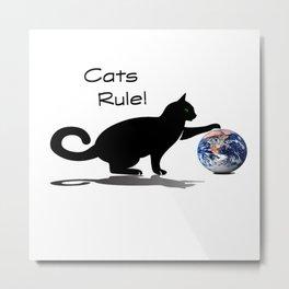 Cats Rule Metal Print