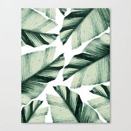 Tropical Banana Leaves Vibes #1 #foliage #decor #art #society6 Canvas Print