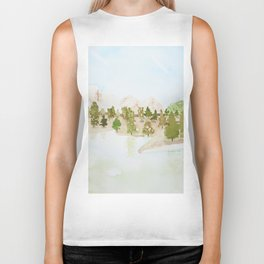 Pines and mountains Biker Tank