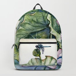 Japanese Water Lilies and Lotus Flowers Backpack