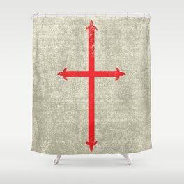 Templar Cross Shower Curtain
