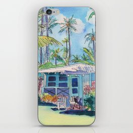 Kauai Blue Cottage 2 iPhone Skin