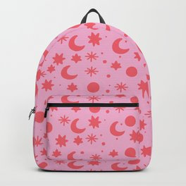 Cosmis space in pinky red Backpack