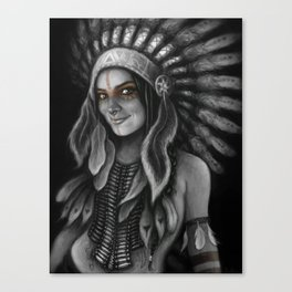 Tribe Girl Canvas Print
