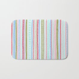 Reddish Pattern Bath Mat