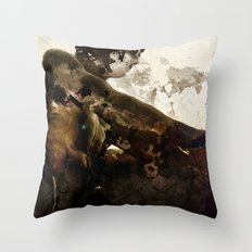 Black idol Throw Pillow
