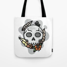 skull and feathers Tote Bag