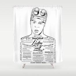 Dan Aykroyd Tattooed Ghostbusters Shower Curtain