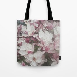 Magnolia Blooms in the Rain Tote Bag