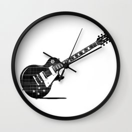 Black Guitar Wall Clock