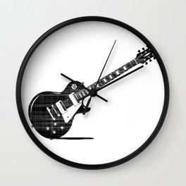 Black Guitar Wall Clock