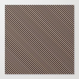 Warm Taupe and Black Stripe Canvas Print