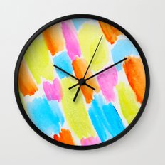 Brushstrokes - candy clouds pattern Wall Clock