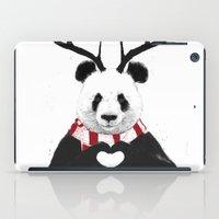 xmas iPad Cases featuring Xmas panda by Balazs Solti