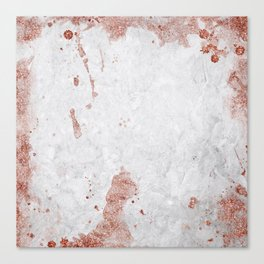 Marble & Copper Canvas Print