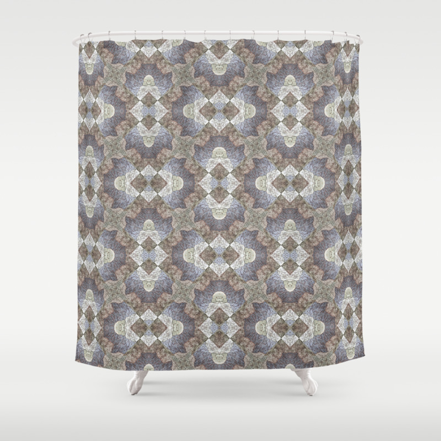 Tree Weave 4 Fabric Shower Curtain