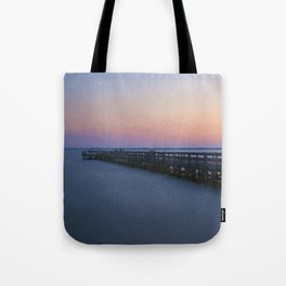 Hilton Pier at Sunset Tote Bag