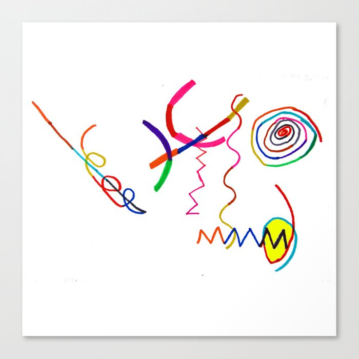 Funky Way Doodle Canvas Print