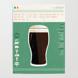 Stout Beer Art Poster