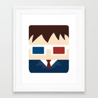 david tennant Framed Art Prints featuring David Tennant, 10th doctor by heartfeltdesigns by Telahmarie