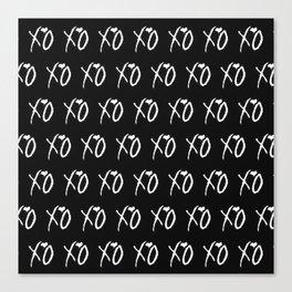 Xo,xo Black pattern Canvas Print