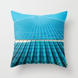 The Blue Architecture (Color) Throw Pillow