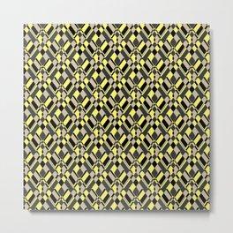 Black and yellow abstract Metal Print
