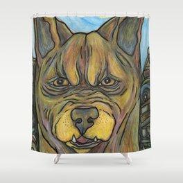 Junkyard Dog Shower Curtain