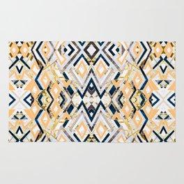 3dimensional marbled geometry pattern I Rug