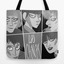 Las chinas Black and White Tote Bag