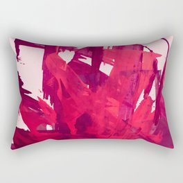 Embers: a vibrant abstract piece in pinks Rectangular Pillow