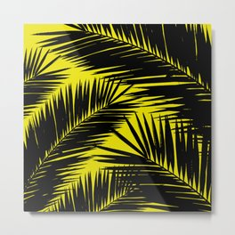 Black Palm Metal Print