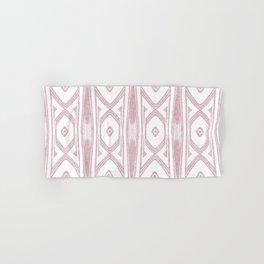 Velvety Tribal Shield in Pink Hand & Bath Towel
